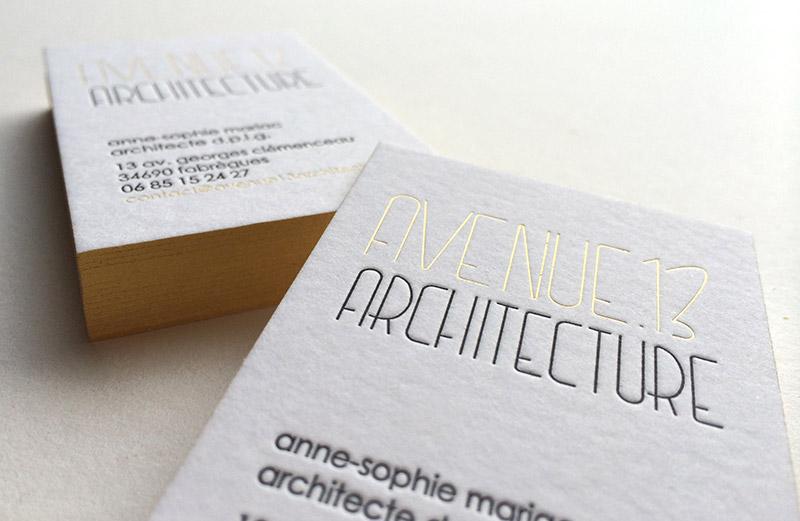 Carte De Visite Architecte